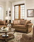 Simmons Upholstery Outback Chocolate loveseat