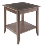 Santino End Table, Oyster Gray