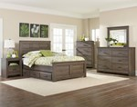 2pc Bedroom Set With Full 3 Drawers Box Bed