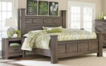 2pc Bedroom Set w/King Poster Panel Bed
