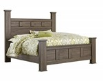 King Poster Panel Bed