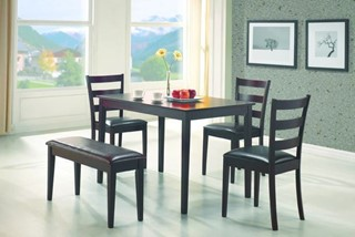 Casual Cappuccino Wood 5pc Pack Dining Sets