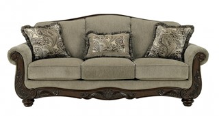 Martinsburg Traditional Meadow Fabric Sofa