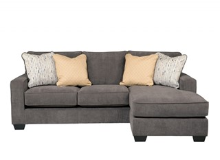 Hodan Contemporary Fabric Cushion Back Sofa Chaise