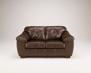 San Lucas Contemporary Harness Faux Leather Fabric Loveseat