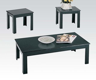 Calico Black Wood 3pc Pack Coffee Table Set
