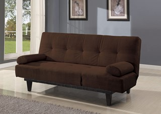 Acme Furniture Cybil Brown Adjustable Sofa With Two Pillows