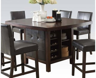 bravo espresso wood counter height table - Kitchen Counter Tables
