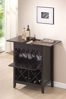 Leo Standard Wenge Wood Wine Cabinet W/Stemware Holder