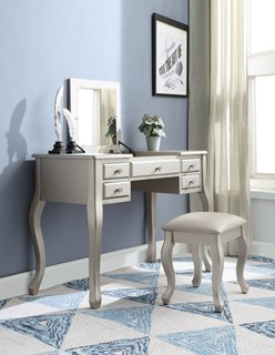 Acme Furniture Ordius Silver Vanity Set
