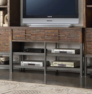 Andria Reclaimed Oak Acacia Wood 2 Drawers 4 Shelves TV Stand