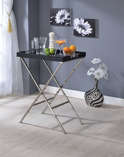 Acme Furniture Lajos Black Tray Table
