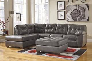 Alliston DuraBlend Contemporary Gray Sectional w/LAF Corner Chaise