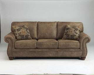 Larkinhurst Traditional Earth Fabric Cushion Back Sofa