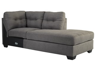 Maier Contemporary Charcoal Fabric RAF Corner Chaise