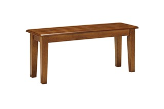 Berringer Cottage Hickory Stain Wood Large Bench
