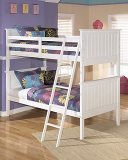 Lulu Cottage White Wood Cottage Twin/Twin Bunk Bed