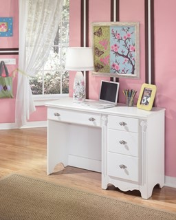 Exquisite Youth Luminous White Wood Kids Desk