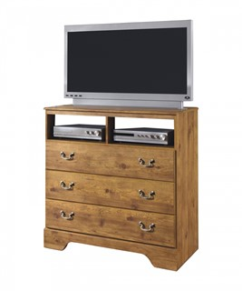 Bittersweet Cottage Pine Grain Wood 2pc Bedroom Set W/King Poster ...