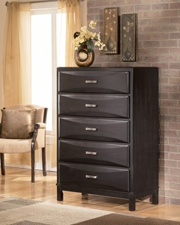 Kira Contemporary Almost Black Wood Queen Drawers Storage Bed