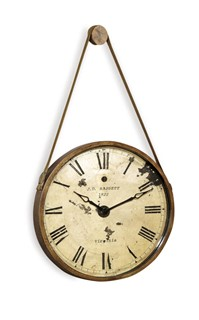 Watchman Burnished Gold Old World Metal Clock