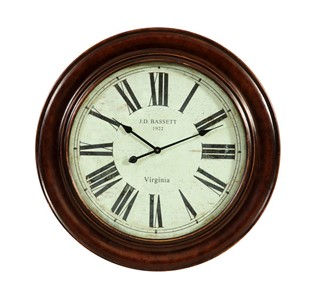 Brinkley Antique Bronze Round Wall Clock