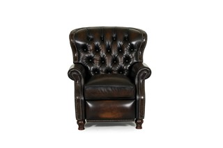 Presidential Traditional Stetson Coffee Leather Recliner
