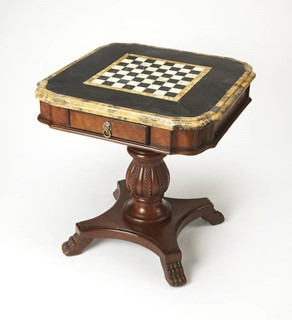 Heritage Traditional Fossil Stone Game Table