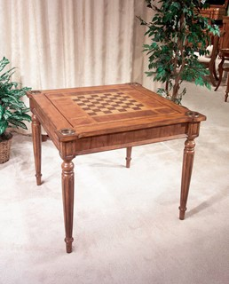 Masterpiece Vincent Antique Cherry Hardwood MDF Multi-Game Card Table