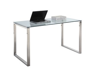 Modern Stainless Shiny Steel Computer Desk Base