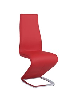 2 Chintaly Imports Tara Red Z Style Side Chairs