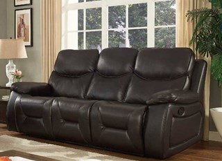 Beverly Dark Brown Leather Gel Sofa With Coffee Table
