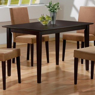 clayton transitional cappuccino wood solid top dining table. beautiful ideas. Home Design Ideas
