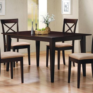 Casual Cappuccino Wood Rectangle Dining Table