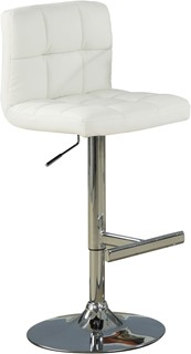 2 Contemporary White Metal Adjustable Bar Stools