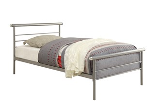 Cobalt Modern Silver Metal Platform Queen Iron Bed