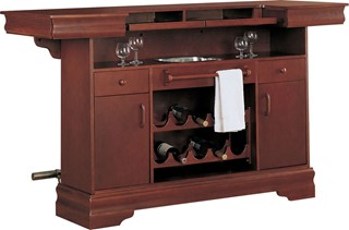 Traditional Cherry Wood Drawers & Door Bar Unit