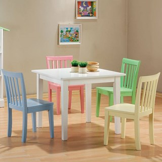 Wood 5pc Youth Table & Chair Set