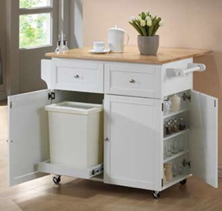 Wood Kitchen Cart ( L 45 X W31.5 X H 35.5 )