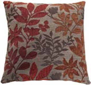 2 Autuman Leaves Fabric Square Accent Pillows