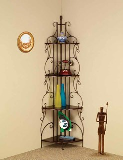 Traditional Copper Metal Shelves Storage Rack