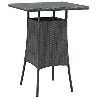Sojourn Rattan Glass Outdoor Patio Bar Table