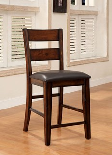 2 Furniture Of America Dickinson II Counter Height Chairs