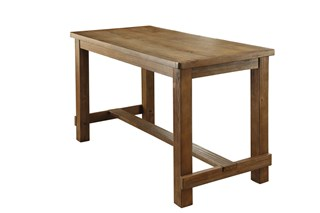 Sania Rustic Natural Tone Solid Wood Counter Height Table