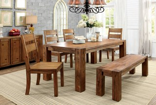 Furniture Of America Frontier 6pc Dining Room Set