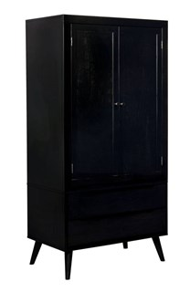Furniture Of America Lennart II Black Armoire