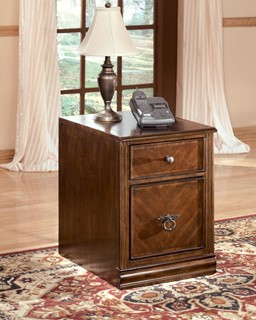 Hamlyn Traditional Medium Brown Solid Wood File Cabinet
