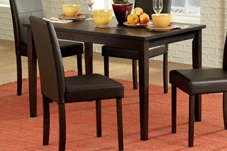 Dover Casual Dark Brown Wood Dining Table