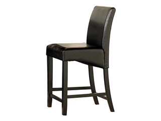 Papario Black Hardwoods Vinyl Corner Counter Height Chair