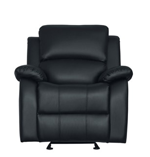Awesome Home Elegance Clarkdale Black Vinyl Recliner Sofa The Dailytribune Chair Design For Home Dailytribuneorg